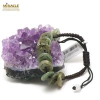 """bracelet jade sur cordon """"ancien monnaie"""""""