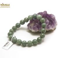 "bracelet jade, perle""ronde 10 mm, vert"""