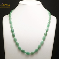 "collier mi-long, perle ""palet oval"""