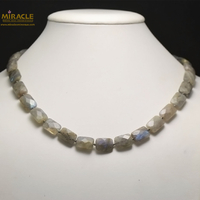 "collier labradorite , "" rectangle facettée """
