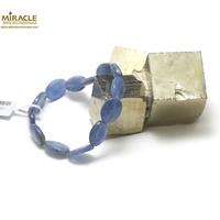 "bracelet cyanite, perle "" palet oval"""