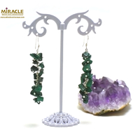 "boucle d'oreille malachite, ""grappe de raisin long"""