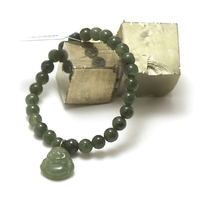 "bracelet jade, pendentif ""bouddha"", vert foncé"
