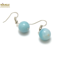 "boucle d'oreille amazonite, perle ""ronde 12 mm"""