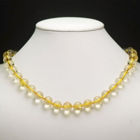 "collier citrine "" ronde 10 mm"""