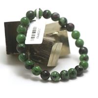 "bracelet zoïsite, perle ""ronde 8 mm"""