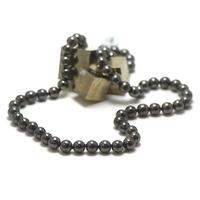 """collier long hématite , """" perle ronde 10 mm"""""""