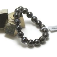 "Bracelet hématite "" perle ronde 12 mm"""