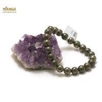 "Bracelet pyrite ""perle ronde 8 mm"""