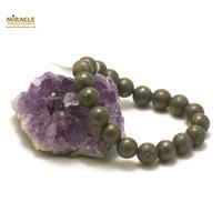 "Bracelet pyrite ""perle ronde 10 mm"""