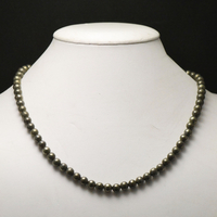 "Collier pyrite, ""perle ronde 6 mm """