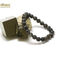 "Bracelet larvikite, perle ""ronde 8 mm"""