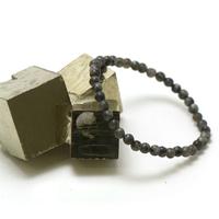"Bracelet larvikite, perle ""ronde 4 mm"""