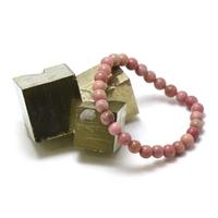"""bracelet rhodonite, perle """"ronde 6 mm"""""""