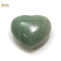 """Magnifique statuette """"coeur"""" en pierre naturelle d'aventurine"""
