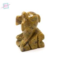 """statuette minéraux """" dauphin """" en pierre naturelle de jaspe paysage"""