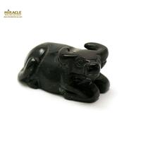 """statuette minéraux """"buffle"""", obsidienne noir"""