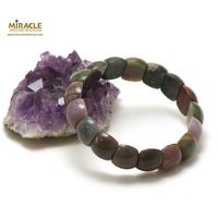 """bracelet agate indien """"plaquette demi-rond"""""""