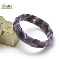 """bracelet améthyste """"plaquette rectangle bombé"""""""