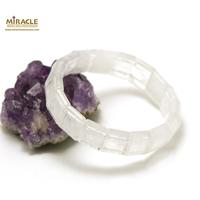 """bracelet cristal de roche """"plaquette rectangle bombé"""""""