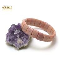 """bracelet rhodonite """"plaquette rectangle bombé"""""""