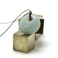 """pendentif/collier amazonite """"donut décentré 30 mm"""", pierre naturelle"""
