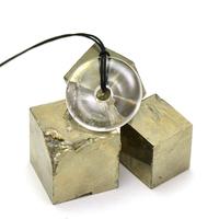 """pendentif/collier cristal de roche """"donut 30 mm"""", pierre naturelle"""