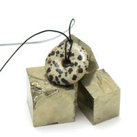 "pendentif/collier jaspe dalmatien ""donut 30 mm"", pierre naturelle"