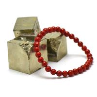 Bracelet corail /bambou de mer, ronde 6 mm