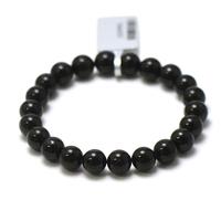"""bracelet tourmaline noir, perle """"ronde 8 mm"""""""