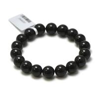 """bracelet tourmaline noir, perle """"ronde 10 mm"""""""