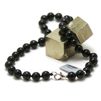 """collier en tourmaline noir, perle """"ronde 10 mm"""""""