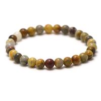 """bracelet agate crazy lace, perle """"ronde 6 mm"""""""
