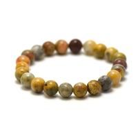 """bracelet agate crazy lace, perle """"ronde 8 mm"""""""