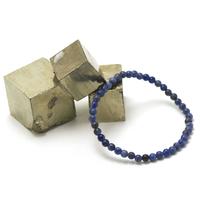 "Bracelet sodalite "" perle ronde 4 mm """
