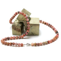 """collier opale rose des Andes, perle """"ronde 6 mm"""""""