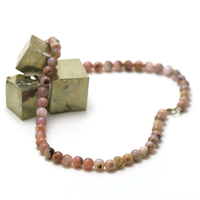 """collier opale rose des Andes, perle """"ronde 8 mm"""""""