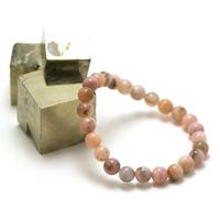 """bracelet opale rose des Andes """"ronde 8 mm"""""""