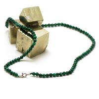 """collier malachite """"perle ronde 4 mm"""""""