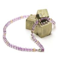 """collier amétrine """"perle ronde 6 mm"""""""