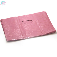 10 très grands sacs cadeaux 40x31 cm, rose