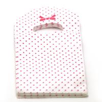 """50 petites sacs cadeaux """"petit point"""" 15x9 cm, blanc/rouge"""