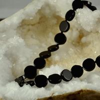 "Bracelet Onyx ""perle ronde 1.2 cm X 0.4 cm"""