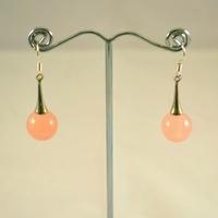 """Boucle d'oreille  quartz rose """" lustre"""""""