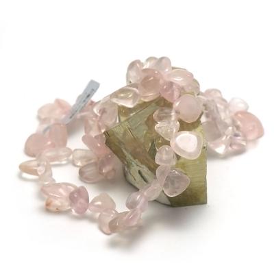 F ts baroque collier pierre naturelle quartz rose