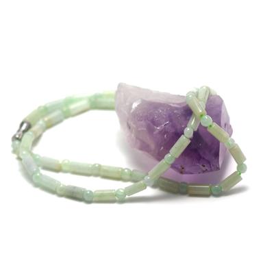 F mini tube-ronde 4mm collier pierre naturelle jade