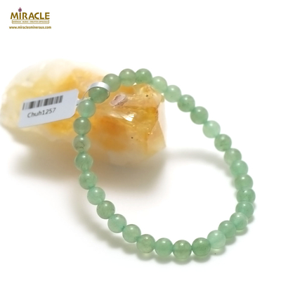 6 mm bracelet en pierre naturelle d'aventurine