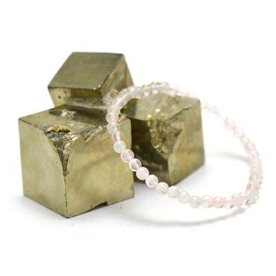 Ronde 4 mm 1 bracelet pierre naturelle quartz rose