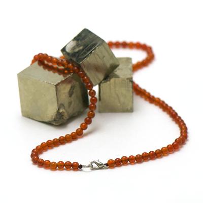ronde 4 mm collier pierre naturelle cornaline