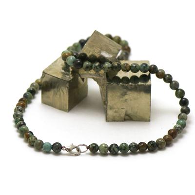 ronde 6 mm 1 collier en pierre naturelle de turquoise d'afrique